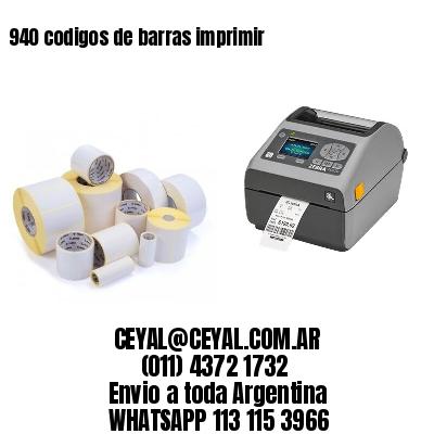 940 codigos de barras imprimir