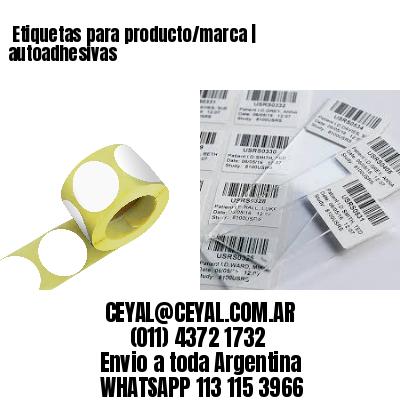 Etiquetas para producto/marca | autoadhesivas