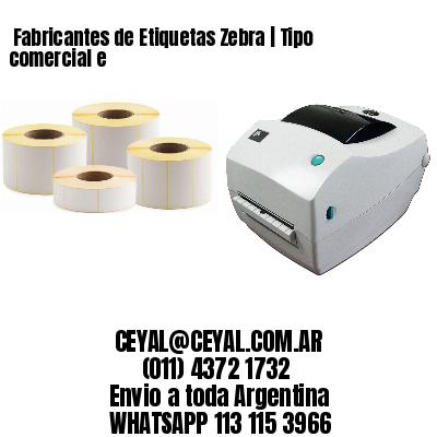Fabricantes de Etiquetas Zebra | Tipo comercial e