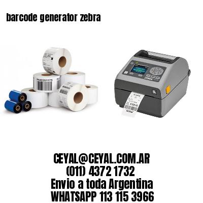 barcode generator zebra