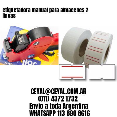 etiquetadora manual para almacenes 2 lineas