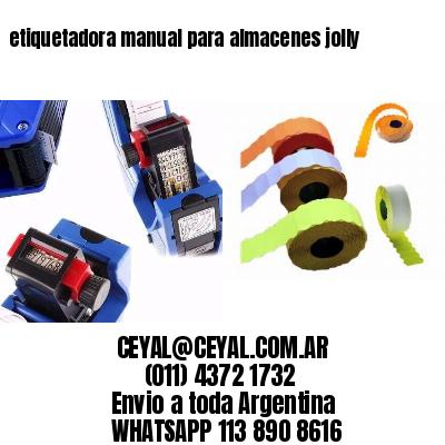 etiquetadora manual para almacenes jolly