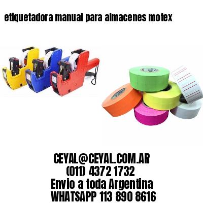 etiquetadora manual para almacenes motex