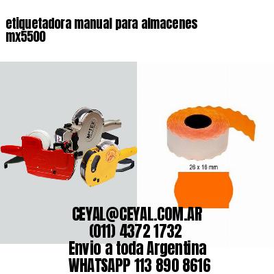 etiquetadora manual para almacenes mx5500