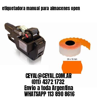 etiquetadora manual para almacenes open