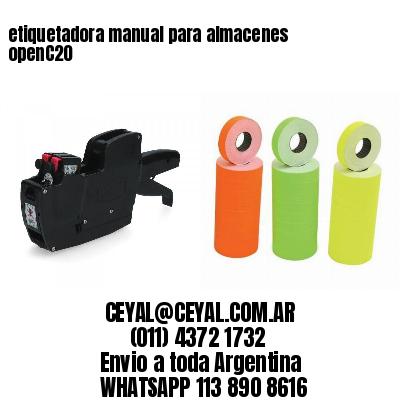 etiquetadora manual para almacenes openC20