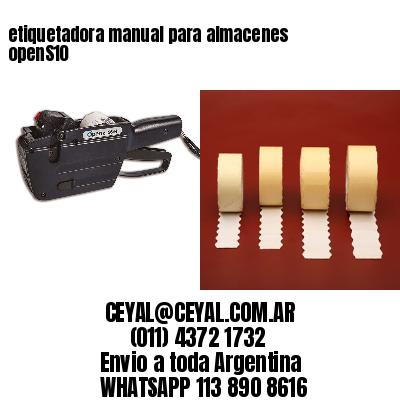 etiquetadora manual para almacenes openS10