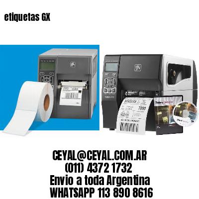 etiquetas GX