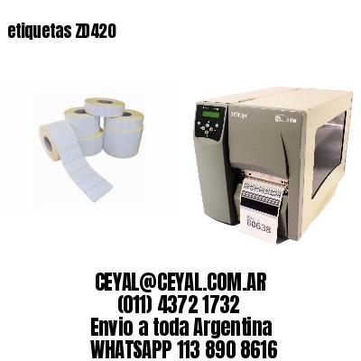 etiquetas ZD420