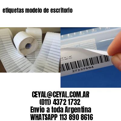 etiquetas modelo de escritorio