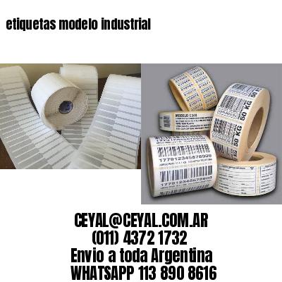 etiquetas modelo industrial