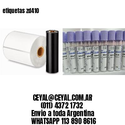 etiquetas zd410