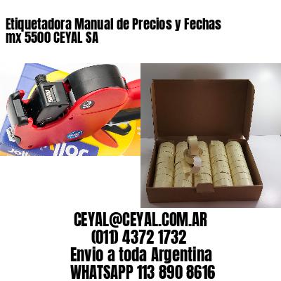 Etiquetadora Manual de Precios y Fechas mx 5500 CEYAL SA