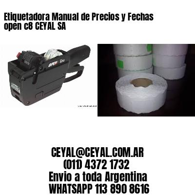Etiquetadora Manual de Precios y Fechas open c8 CEYAL SA