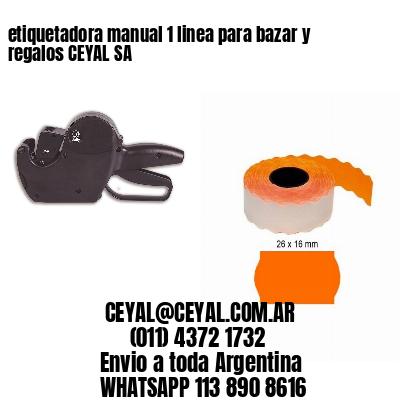 etiquetadora manual 1 linea para bazar y regalos CEYAL SA