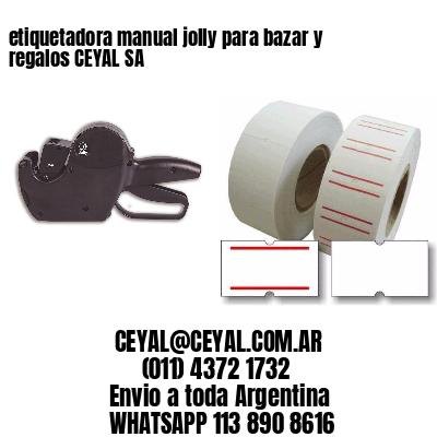 etiquetadora manual jolly para bazar y regalos CEYAL SA