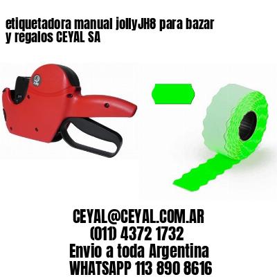 etiquetadora manual jollyJH8 para bazar y regalos CEYAL SA