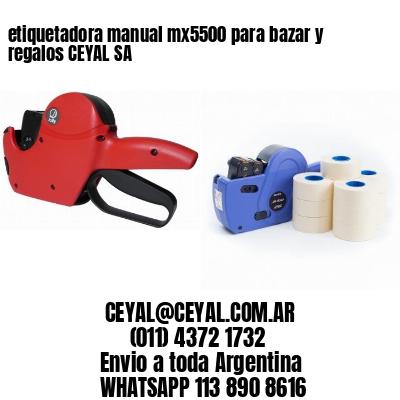 etiquetadora manual mx5500 para bazar y regalos CEYAL SA
