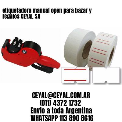 etiquetadora manual open para bazar y regalos CEYAL SA