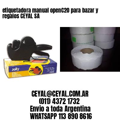 etiquetadora manual openC20 para bazar y regalos CEYAL SA