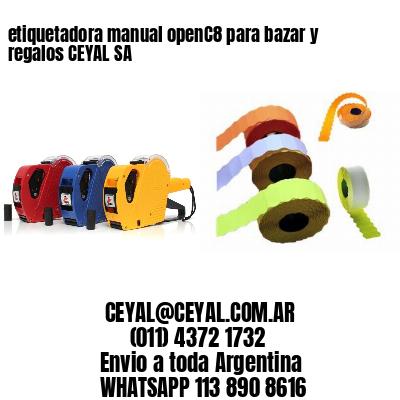 etiquetadora manual openC8 para bazar y regalos CEYAL SA