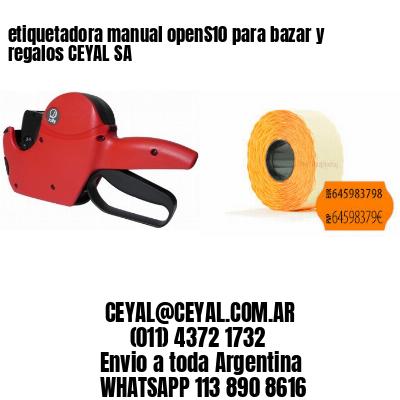 etiquetadora manual openS10 para bazar y regalos CEYAL SA