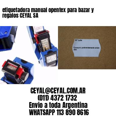 etiquetadora manual opentex para bazar y regalos CEYAL SA
