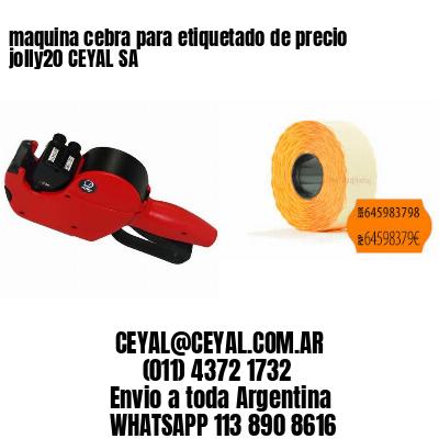 maquina cebra para etiquetado de precio jolly20 CEYAL SA