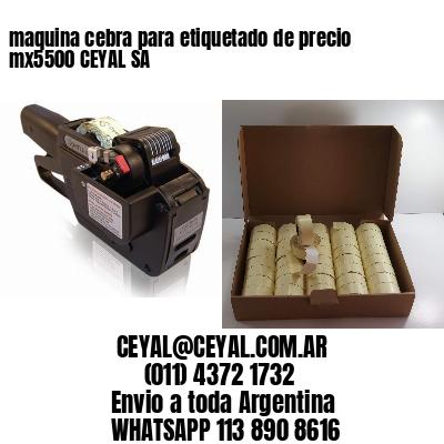 maquina cebra para etiquetado de precio mx5500 CEYAL SA