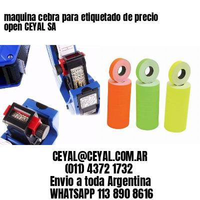 maquina cebra para etiquetado de precio open CEYAL SA