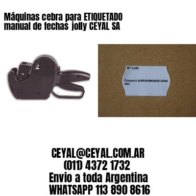 Máquinas cebra para ETIQUETADO manual de fechasjolly CEYAL SA