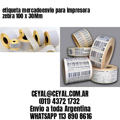 etiqueta mercadoenvio para impresora zebra 100 x 30Mm