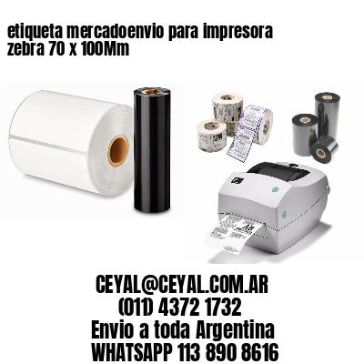etiqueta mercadoenvio para impresora zebra 70 x 100Mm