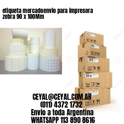 etiqueta mercadoenvio para impresora zebra 90 x 100Mm