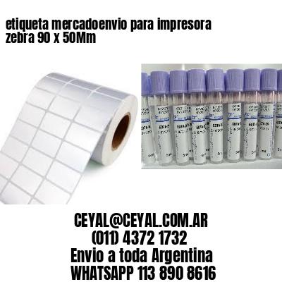 etiqueta mercadoenvio para impresora zebra 90 x 50Mm