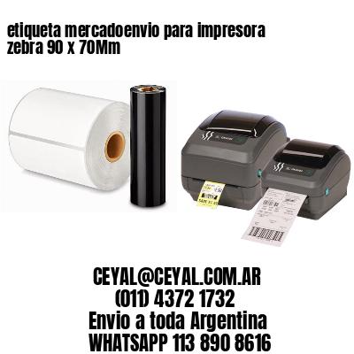 etiqueta mercadoenvio para impresora zebra 90 x 70Mm