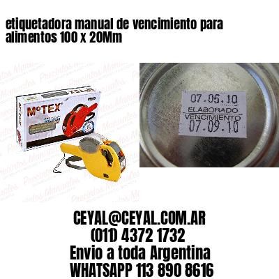 etiquetadora manual de vencimiento para alimentos 100 x 20Mm