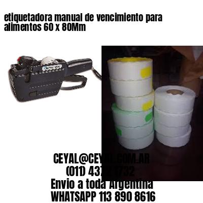 etiquetadora manual de vencimiento para alimentos 60 x 80Mm