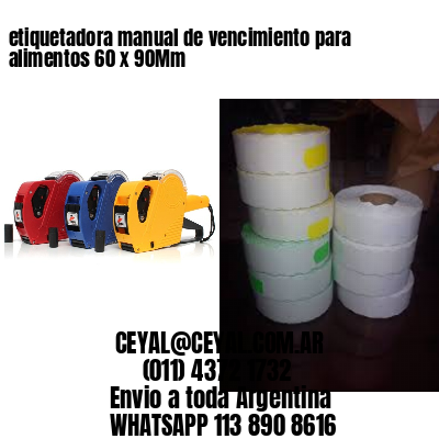 etiquetadora manual de vencimiento para alimentos 60 x 90Mm