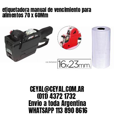 etiquetadora manual de vencimiento para alimentos 70 x 60Mm