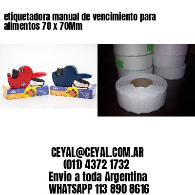 etiquetadora manual de vencimiento para alimentos 70 x 70Mm