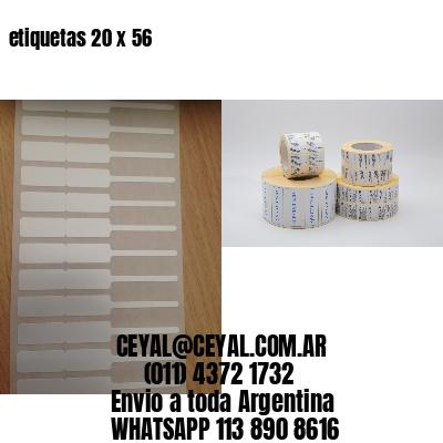 etiquetas 20 x 56