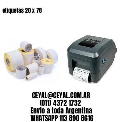 etiquetas 20 x 78