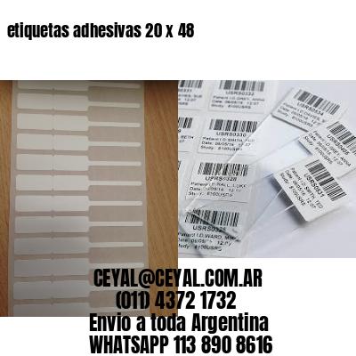 etiquetas adhesivas 20 x 48
