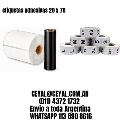 etiquetas adhesivas 20 x 70