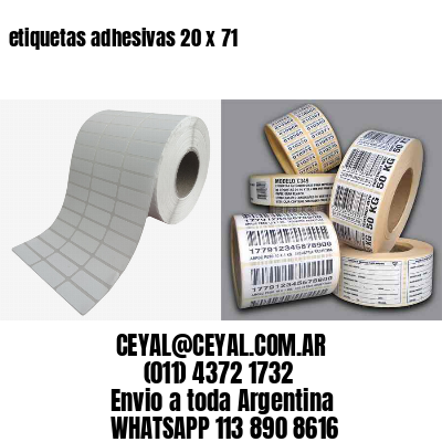 etiquetas adhesivas 20 x 71