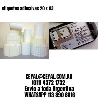 etiquetas adhesivas 20 x 83