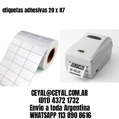 etiquetas adhesivas 20 x 87