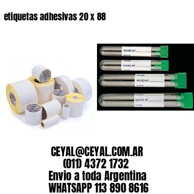 etiquetas adhesivas 20 x 88