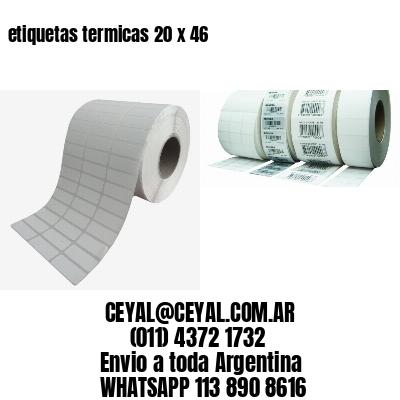 etiquetas termicas 20 x 46